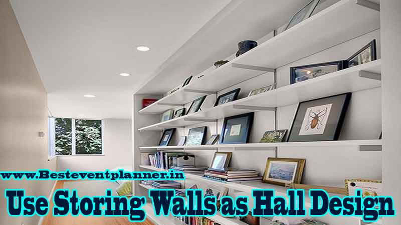 storing walls Interior Design Ideas for Hall in India