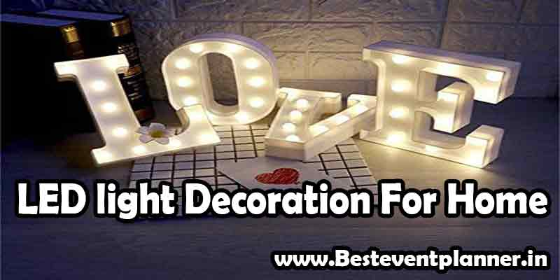 led decoration idea for wedding home