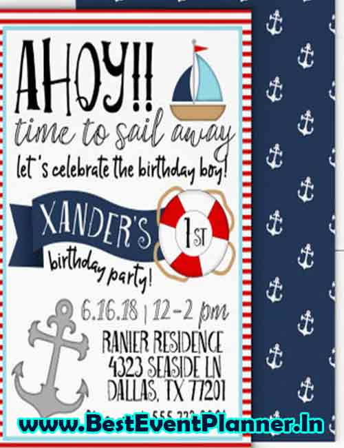 boating kitty party invitation idea