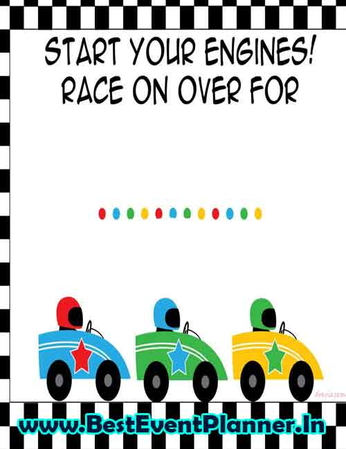 racer invitation idea