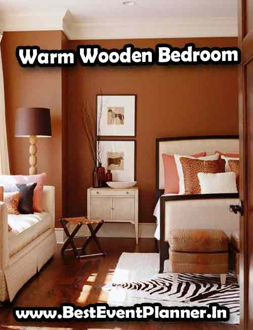 Warm Wooden Bedroom idea for romantic couple