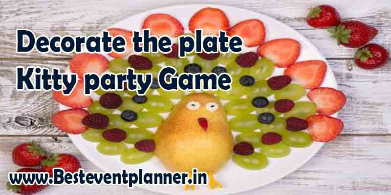 Decorate the plate-kitty game for ladies