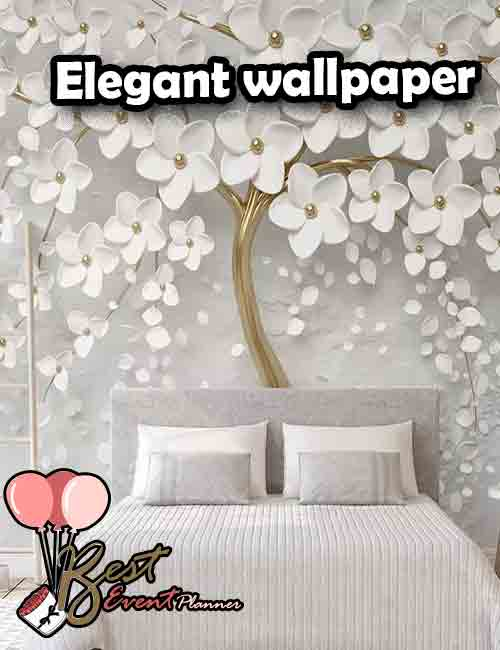 Elegant wallpaper for bedroom