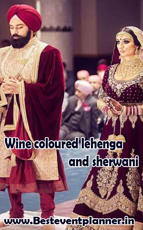 Wine colour dress combination