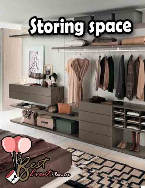 Storing space in the Bedroom