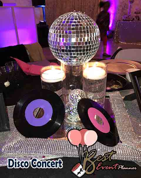 Disco concert sangeet theme ideas