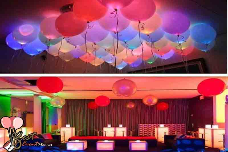 LED Balloon for ceiling Anniversary decoration ideas