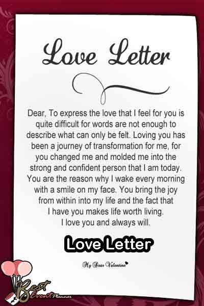 write love letter for your partner