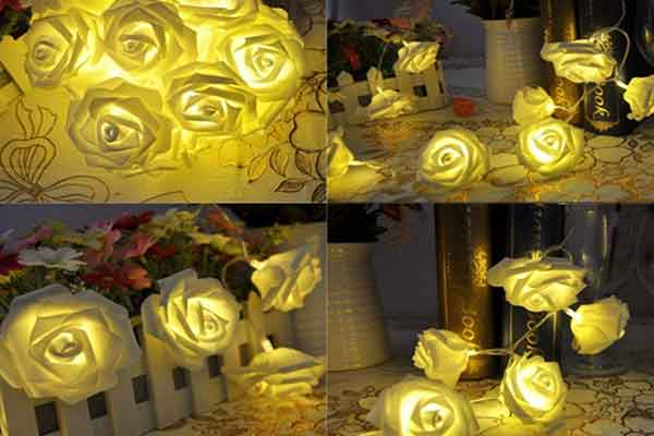 LED Floral Decoration Idea for Ganesh Chaturthi