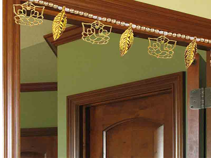Ganesh Leaf Door Hanging decor for pooja room