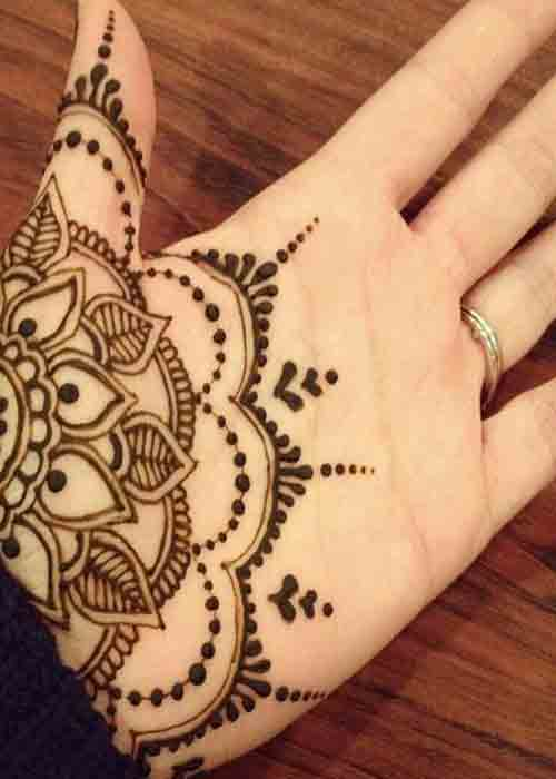 floral Mehndi Design for Male