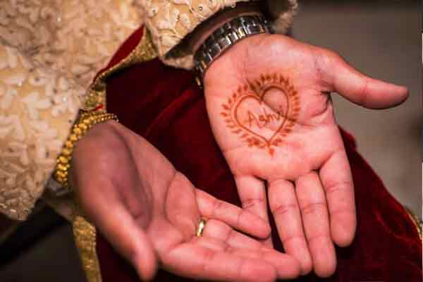 Heart Mehndi Designs for Gents