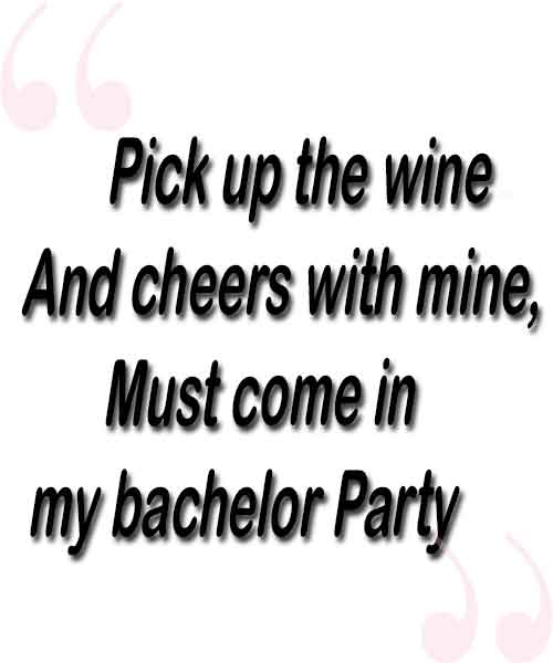 Invitation messages for Bachelor Party