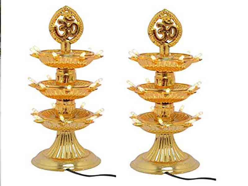 Electric Diya Idea for Pooja room Decoration
