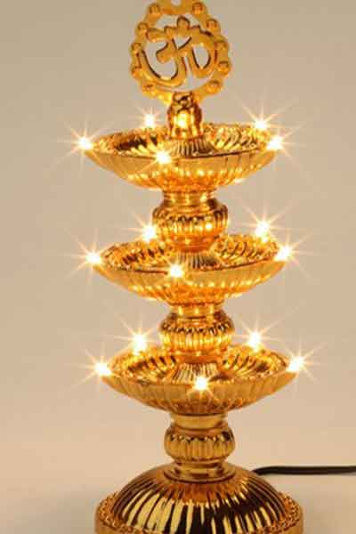 3 Layer electric Diya for Ganesh Chaturthi Decoration