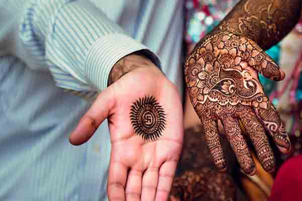 Couple mehndi Design for gents