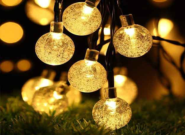 Crystal Bubble Ball String Lights