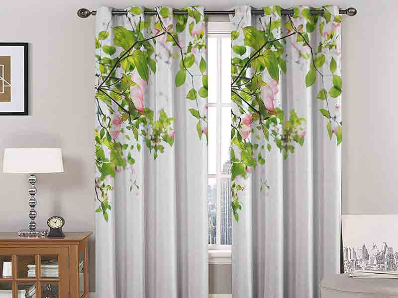 Leaf Curtains decoration idea