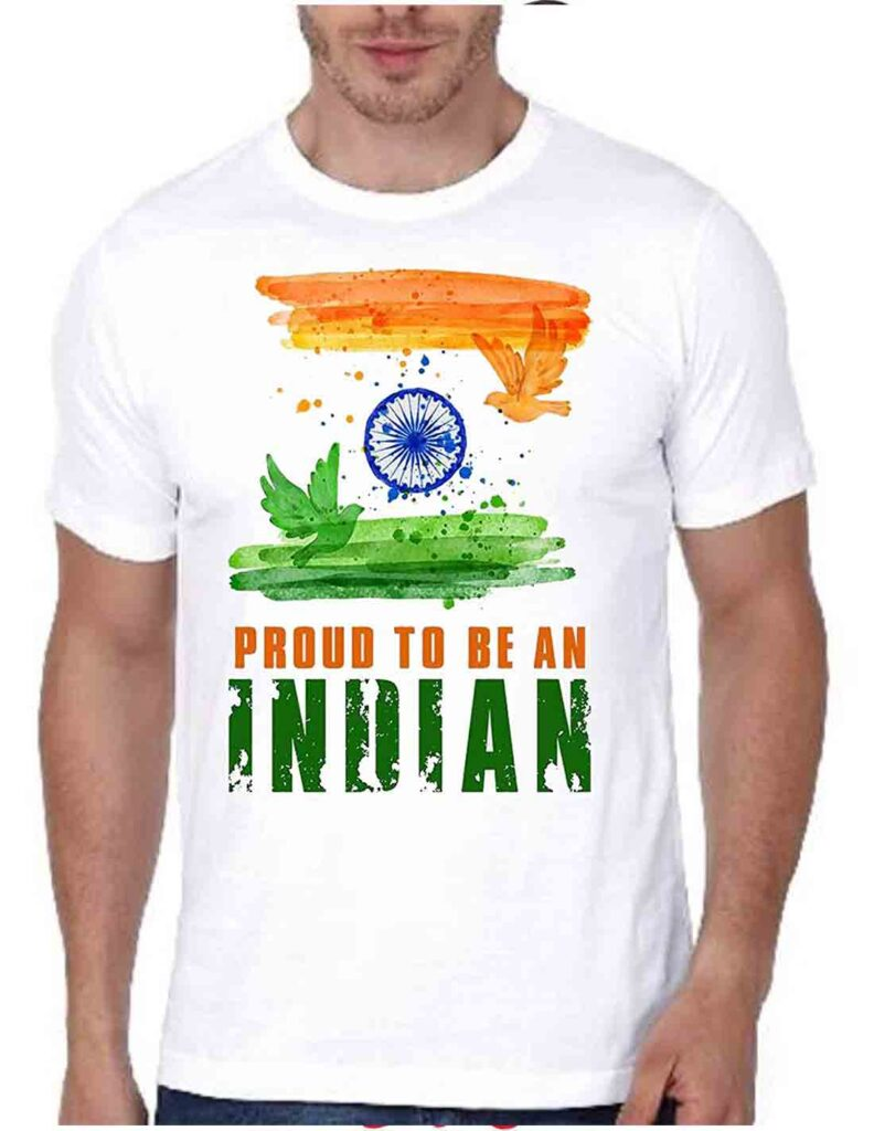 """""""I Love India"""" Printed T-shirts dress code indian independence day dress up"""