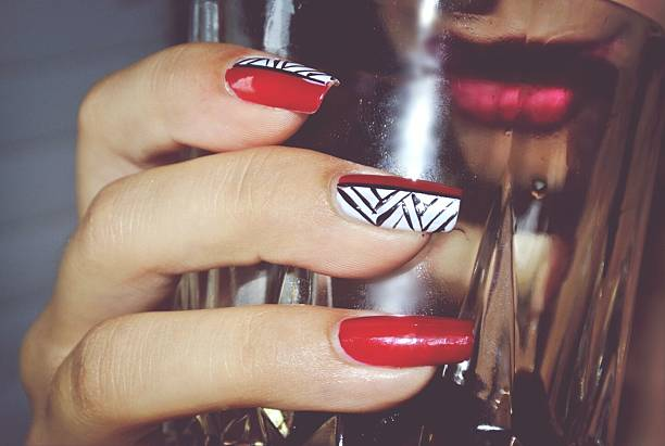 classy patterned  nails
