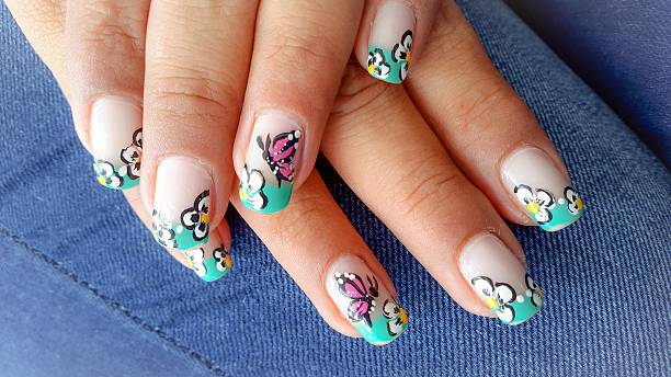 butterfly nails art