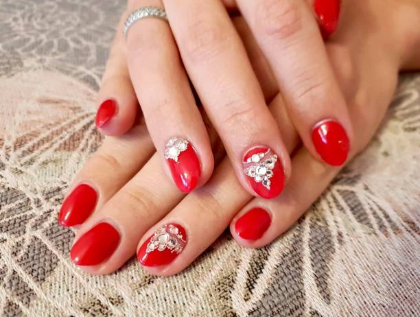 bride nails hands design images