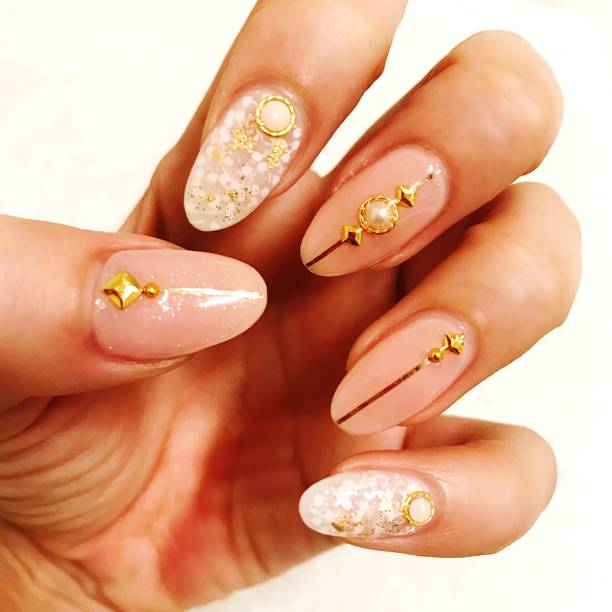 patterned bride nails art images
