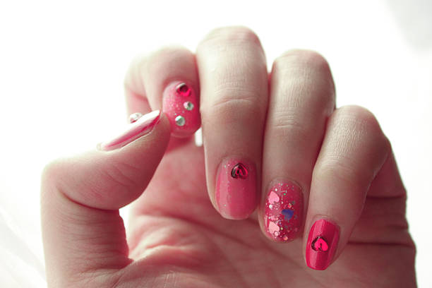 highlighted design images of nail arts