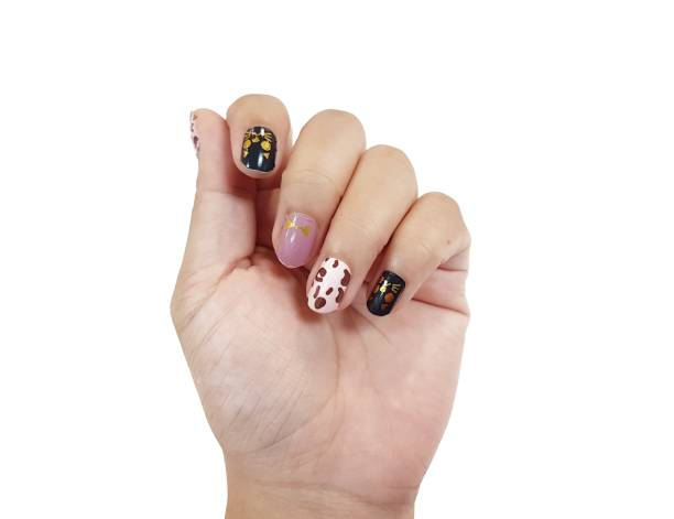 multi patterned Designs images of nails
