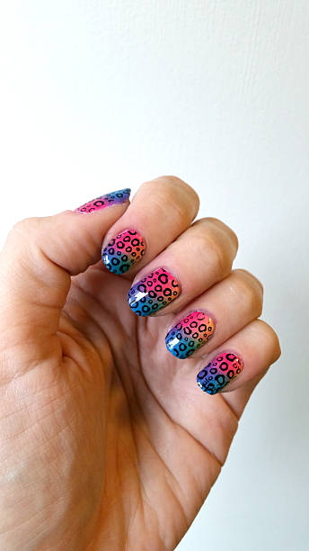sponge & gradient nail art design
