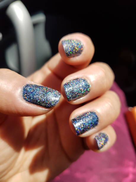 glittering effecting Nail art designs for bride