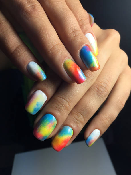 rainbow gradients nails images