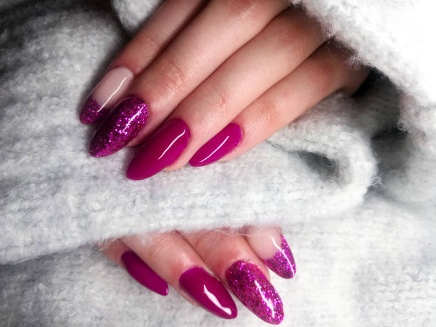 beautiful purple nail designs