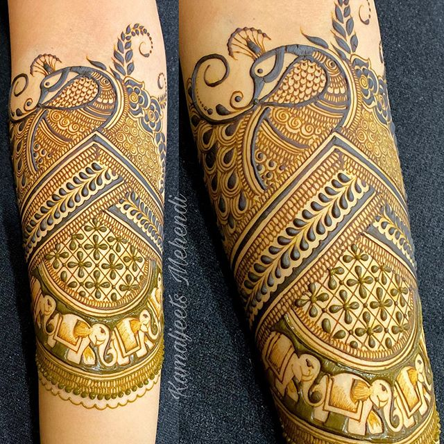 best bridal full hand mehndi designs