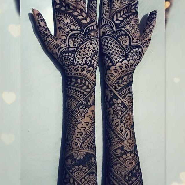 Full hand mehndi designs for bride