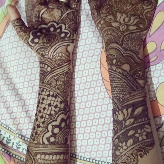 full hand Mehandi Design for Dulahan
