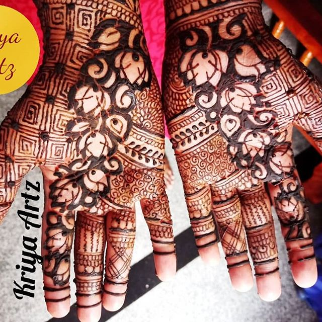 full arms mehndi designs bride