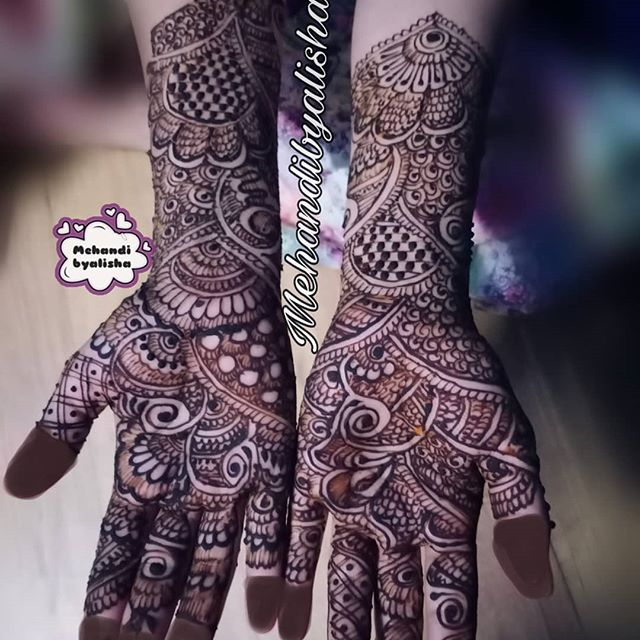 dulhan full hands mehndi design