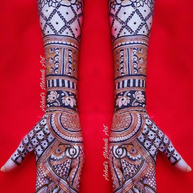 indian bride full hand mehndi designs