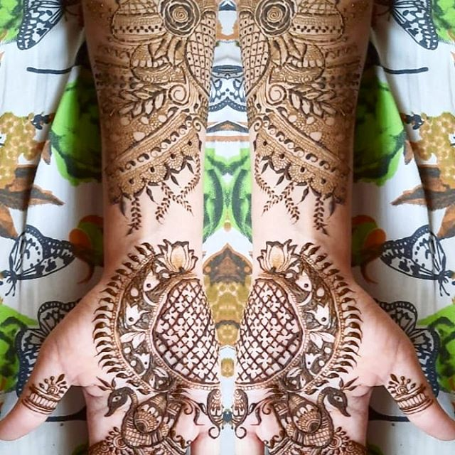 indian full hands mehndi design for dulhan