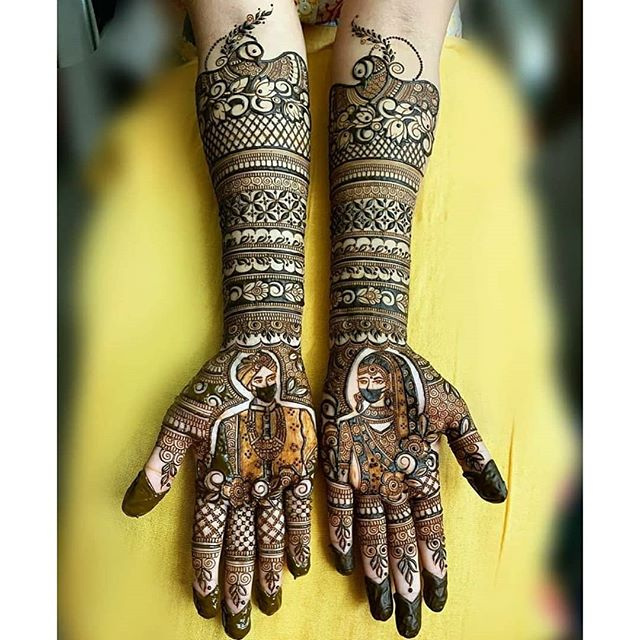 henna full hands mehndi design for bride