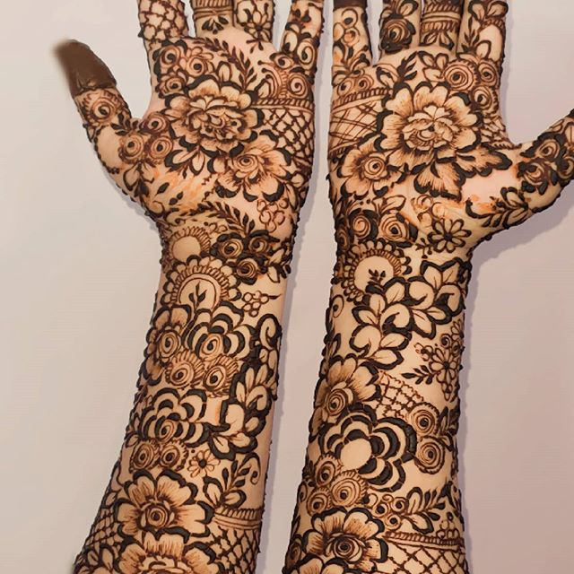 easy & simple full hands mehndi designs
