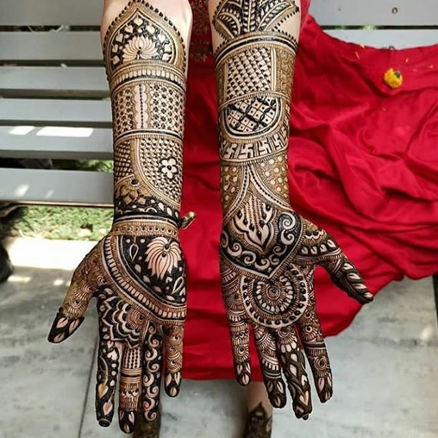 dulhan hands mehndi design