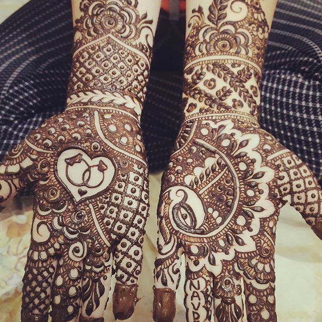 Full hand mehndi designs for bridal