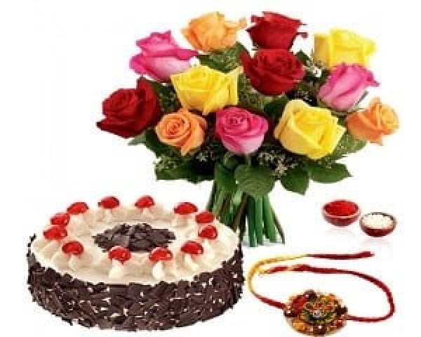 cake & flower - christmas gift idea for sister