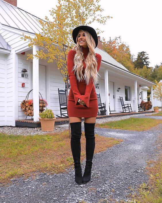 Chunky Sweater - outfit ideas for fresher party