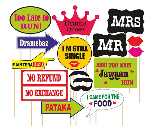 photo props decoration ideas for freshers party