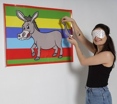 Pin the Tail on the Donkey - freshers party games